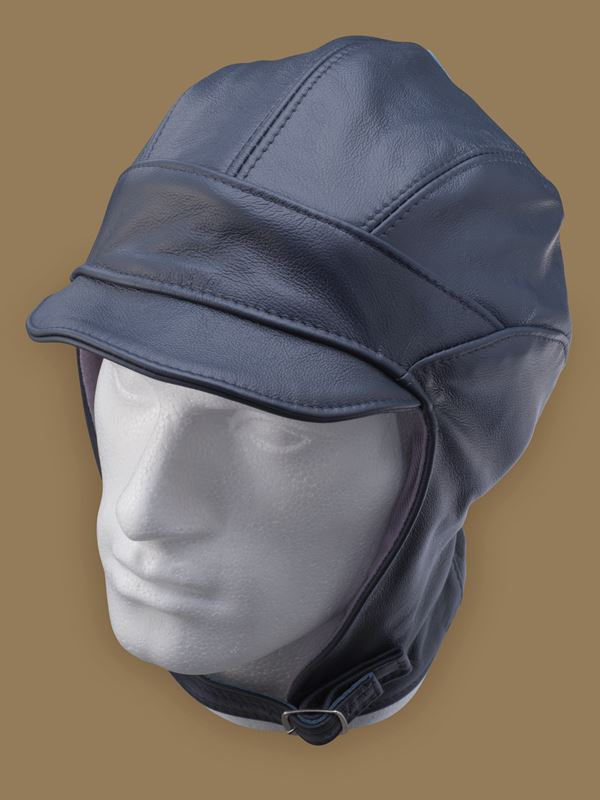 Leather Millia Motoring Helmet