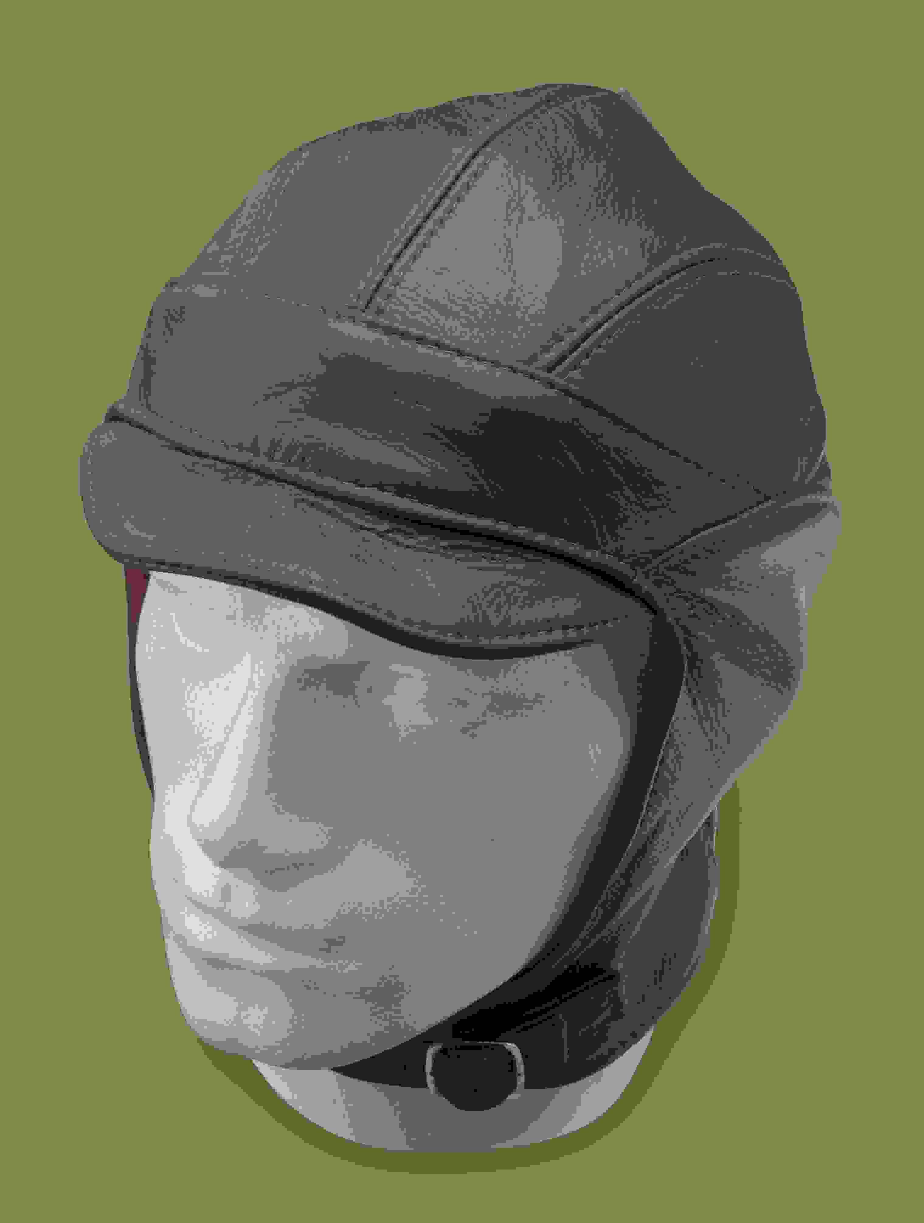 Leather Millia Motoring Helmet - Flying Jackets